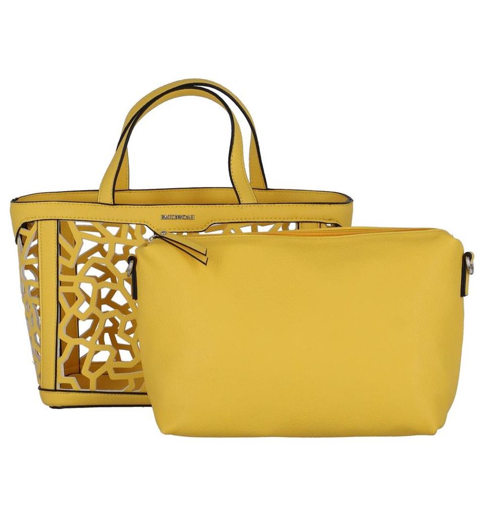 94e13e9a768 SchoenVoordeel: Gele Bag in Bag Handtas Emily & Noah van Emily ...