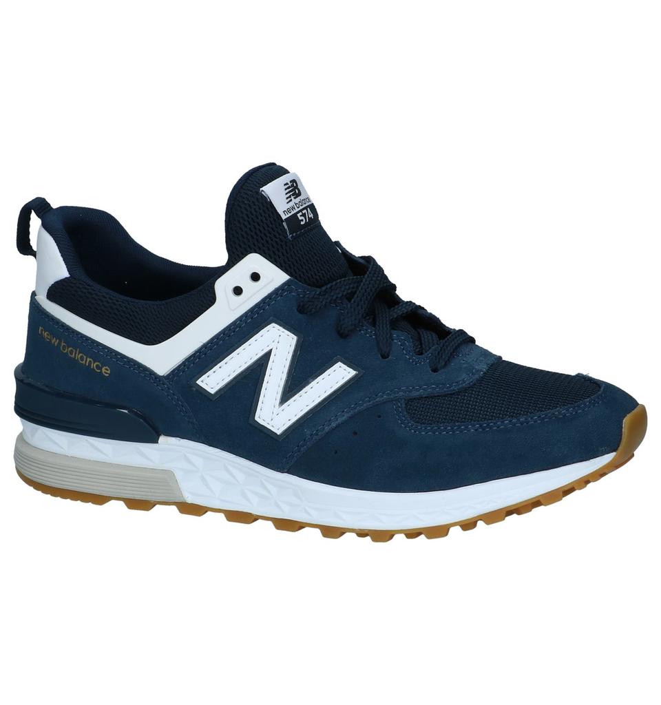 new balance ms574 blauw